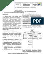 Balanceo REDOX y tipos de reacciones químicas