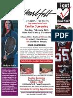 California Tri & Choy Chiropractic cardiac screening -- Sun. Feb. 24th -- Pasadena!