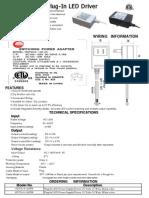 cut sheet led driver plug in