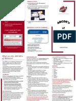 ABCDE Malaria Brochure