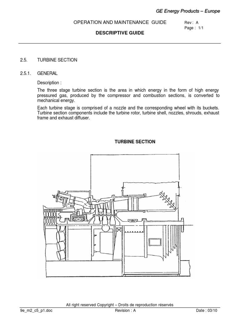 GE Frame 9E Turbine stator and rotor construction | Turbine | Gas ...