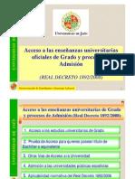Acceso Universidad (RD 1892-08)
