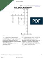 Crucigrama de Fundamentos de Inv.