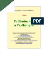 Alain [Emile Chartier] - Preliminaire a l'Esthetique [1936]