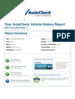 Toyota Rav4 Auto check