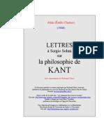 Alain Lettres Solmi Kant