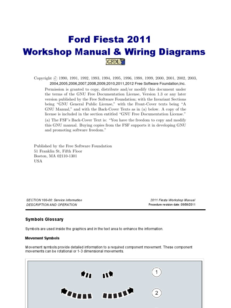 Ford Fiesta Workshop Manual 2011 Malaysia Free Download Wiring Diagrams Pictures