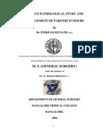 CLINICO PATHOLOGICAL STUDY Parotid management