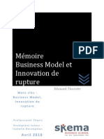 Business Model et Innovation de rupture