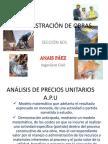 CLASE ADMINISTRACIÓN DE OBRAS