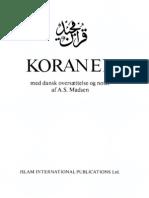 Koranen på dansk.