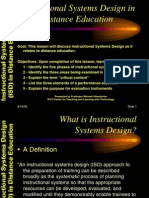 ISD in Distance Education