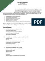 Social Studies 10 Course Outline