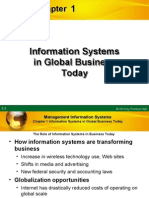 Information System on global businesses today.