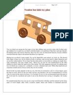 Planos de juguete de madera, autobús escolar