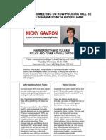 Flyer from Nicky Gavron