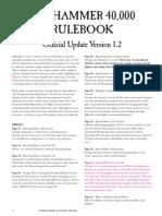 40k 6th Ed Rulebook FAQ v1.2 January 2013