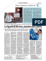 4.2.2013, 'A soli 24 anni Andrea Speziali gira il mondo rilanciando l'Art Nouveau dei primi del Novecento, con mostre e iniziative' NQ Rimini
