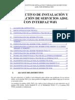 Instructivo de Instalacion y Reparacion de Servicios ADSL Con Interfaz Wifi