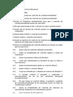 Questionário - Controle de Constitucionalidade