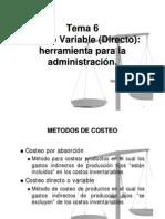 Costeo_variableherramientaparalaadmon. Tema 6