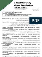 MELJUN CORTES Prelim Exam ITC44 4031