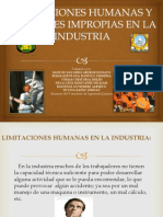 Limitaciones Humanas y Actitudes Impropias en La Industria