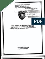Reglamento de Personal para empleados de carrera del Sistema Clasificado ( Nuevo Reglamento de Personal de la Policía de P.R.) 8263
