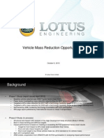 Vehicle Mass Reduction Opportunities