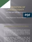 Optimization of productivity of garments