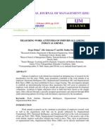 MEASURING WORK ATTITUDES OF INDIVIDUALS AMONG  INDIAN ACADEMIA