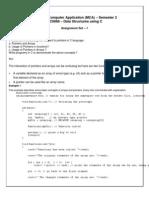 Data Structureass1