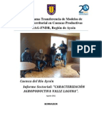 Informe Agriopecuario Valle Laguna