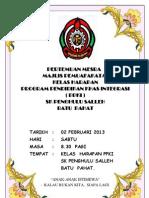 Buku Program Majlis Permuafakatan 2013