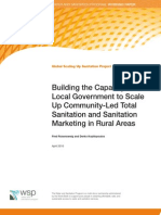 Building the Capacity of Local Government to Scale Up Community-Led Total Sanitation and Sanitation Marketing