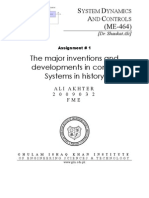 Major inventions in control systems