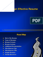 Writing an Effective Resume
