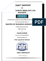 project report for MBA student