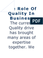role of quality in business
