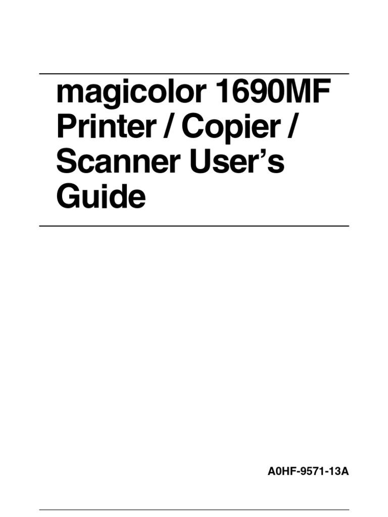 konica minolta magicolor 1690mf printer driver win7