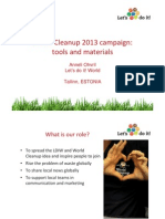 Marketing and Communications Presentation in Clean World Conference 2013 by Anneli Ohvril
