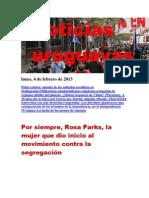 Noticias Uruguayas Lunes 4 de Febrero Del 2013