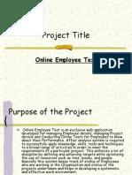 online employment test