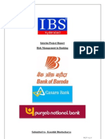 Risk Management Practices of Three Public Sector Banks