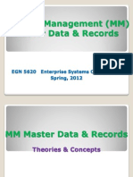 EGN 5620 Enterprise Sys MM Master Data