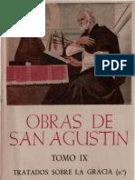 Agustin Obras Tomo IX Tratado Sobre La Gracia Bilingue OCR