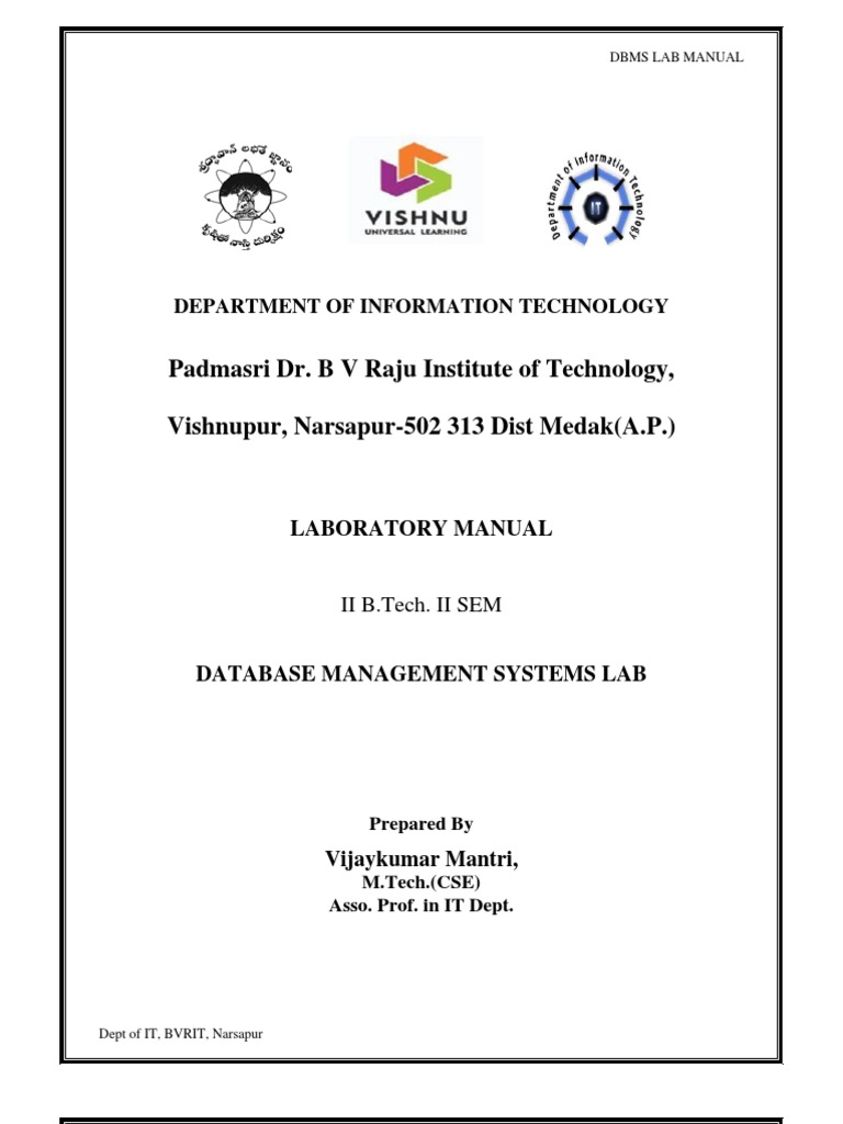 dbms lab manual pdf pl sql sql rh scribd com dbms lab manual vtu 2010 dbms lab manual vtu pdf
