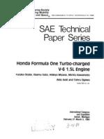 SAE Honda RA168E Engine