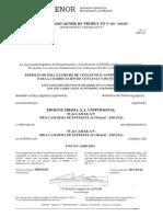 Certificado AENOR Eurodur