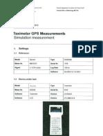 Calibración Taxímetro GPS